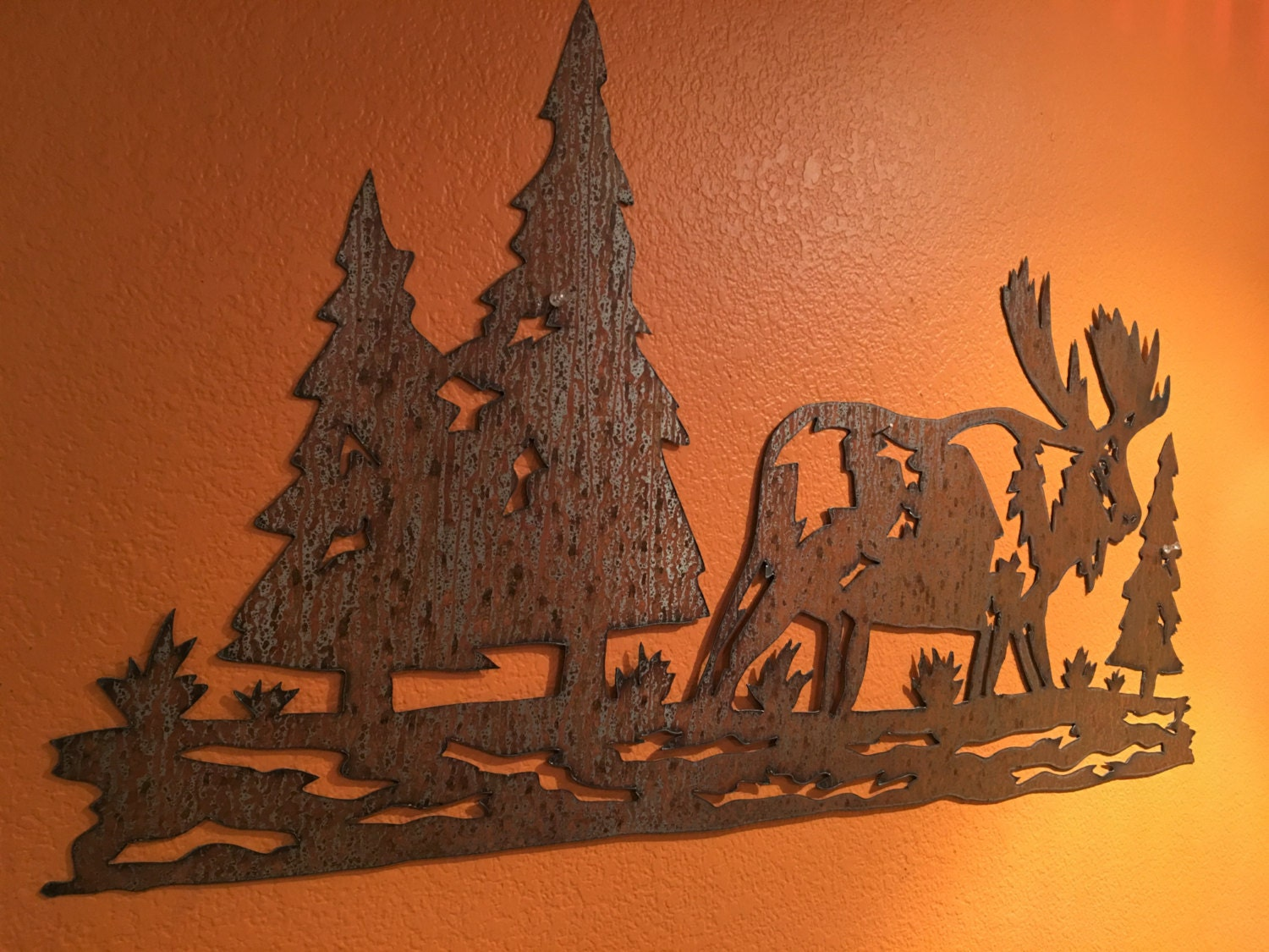 Cabin Wall Art moose decoration / rustic decor ideas / wall art / cabin decor