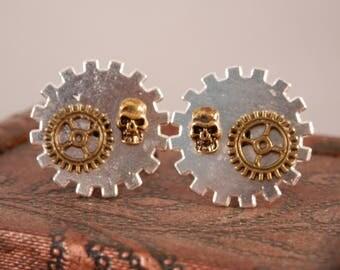 Steampunk Cufflinks Silver