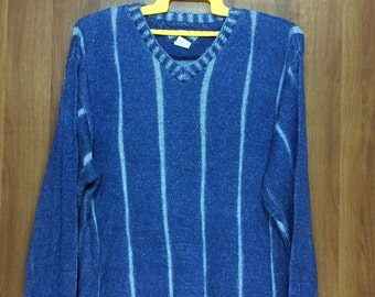 BLUE WILLI'S Knit Jumper Sweater Made In Denmark -Adult Medium Size