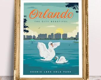 Orlando, the city beautiful - Fine Art Print Glicee Poster - LIMITED EDITION