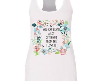 Alice In Wonderland flowers flowy tank/ Golden Afternoon shirt/ Wonderland / Disney shirt