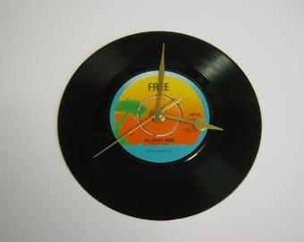"""Free """"All Right Now"""" Special Unique Record Wall Clock - My Brother Jake Wishing Well Little Bit Of Love Bad Company Feel Like Makin' Love"""