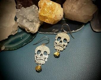 Skull Drop Dangle Earings