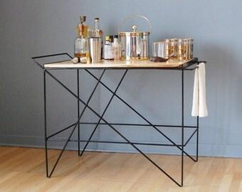The Coleman Bar Cart by Award-Winning Designer/Maker Greta de Parry. Contemporary Design, Industrial Chic. FREE SHIPPING.