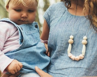 SALE Vesper Silicone Necklace Jewellery Australia Mum gifts Baby Friendly Jewelry BPA Free Silicone Teething beads boho wooden