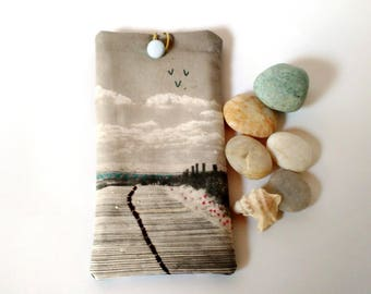 smartphone cover, cell phone cover, case phone embroidered ocean