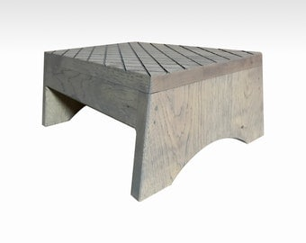Step Stool in Weathered Gray by Candlewood Furniture Wooden Wood Grandma Gift  sc 1 st  Etsy : stool bed - islam-shia.org