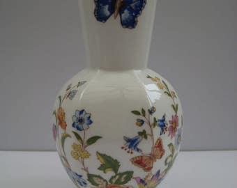 Aynsley Fine Bone China Vase in Cottage Garden Design