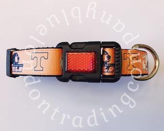 University of Tennessee Volunteers Adjustable Dog Collar~College~Sports~Adjustable Dog Collar~Volunteers~Tennessee~Dog Wear