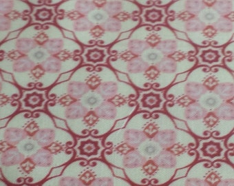 Penny Rose Fabrics - Beaujolais - Pink , Red, on White colorway
