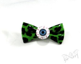Hair clip 'Green Eye'