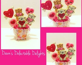 Valentines Day Sugar Cookie Bouquet