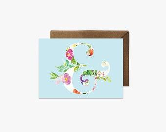 Ampersand Card + Kraft Envelopes --- G009