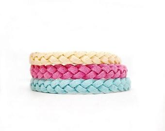 Adult Leather Bracelets / Braided Bracelets / Essential Oil Jewelry / Aromatherapy Bracelet / Late Night Luna / Adult Jewelry