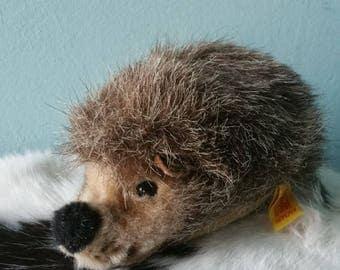 Adorable STIFF hedgehog! Collectible vintage stuffed hedgehog Joggi