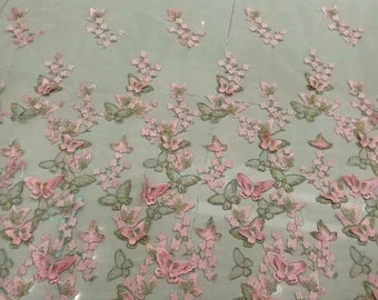 3D Butterfly Lace Fabric,Wedding Dress Lace, ,Butterfly French Lace Fabric