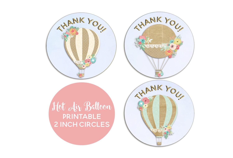 Balloon Tag: Hot Air Balloon Party Up Up And Away Birthday Hot Air