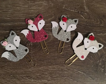 Valentine fox paperclip/bookmark