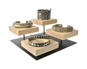 Bracelet display - Metal and Wood Jewelry Display for Craft Show Display or Retail Display