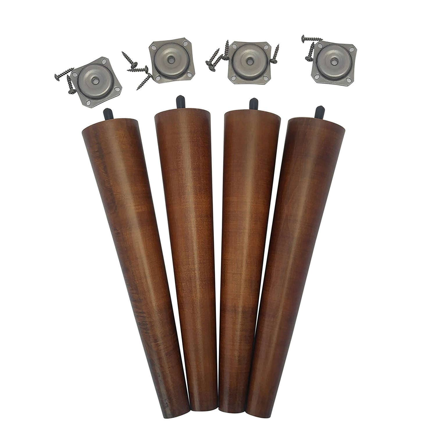 Tapered Coffee Table Legs 12 Retro Walnut Tapered Mid Century Modern Bench Legs Or Coffee