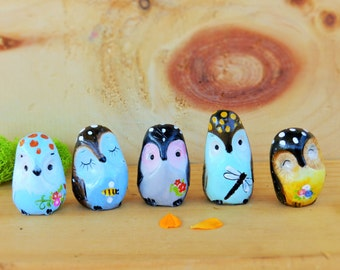 polymer clay cute collectible owls totem pocket owl figurine