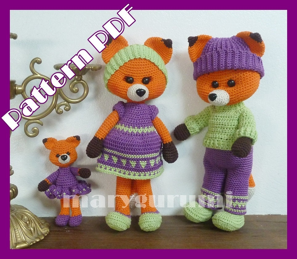 Pattern, boss, family of foxes to crochet, amigurumi ...
