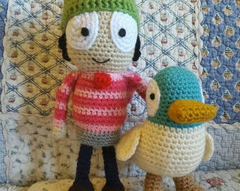 Sarah and Duck Amigurumi Doll Set