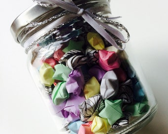 Origami | Lucky Star | Retro | Pastel | Jar | Gift | Wedding | Home