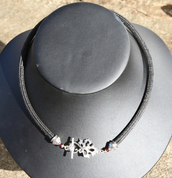 Black Iron Viking Knit Necklace (TK)