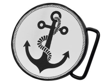 Nautical Anchor Belt Buckle- Free Personalized Engraving