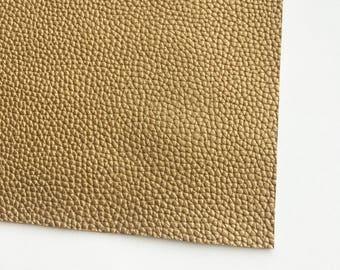 Metallic Antique Gold Textured Vegan Faux Leather