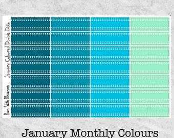 NEW January Monthly Coloured Double Dots for the Erin Condren Life Planner