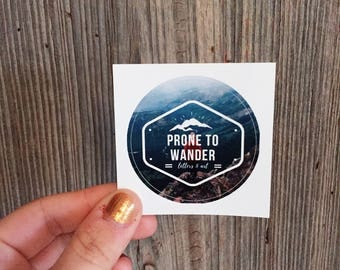 Prone to Wander Logo Sticker