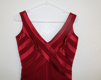 Vintage long Red Dress JS Collections FREE SHIPPING