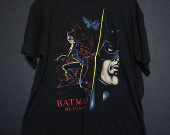 Batman Returns Catwoman DC Comics 1980's vintage Tshirt