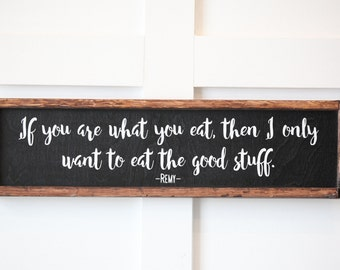 Remy Quote, If You Are What You Eat, Kitchen Decor, Wall Art, Home Decor, Home and Living, Wall Art, Gift, Gift for her, Disney, Wall Decor