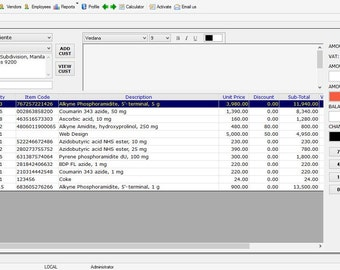 Simple Retail Sales, Inventory of Stocks Tracking Software for Windows-barcode support