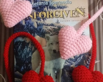 Bookmark heart Valentine's day | Amigurumi