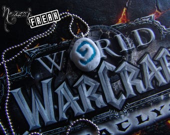 The Hearthstone - Heartstone - Collar World of Warcraft - WoW necklace - Glow in the dark