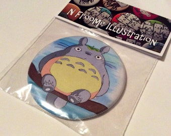 58mm gift packaged pocket mirror with Totoro illustration