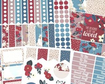 Basic Berry Blossoms Planner Sticker Collection - For use in fall Erin Condren, Happy Planner, Plum Paper, Filofax, Kikki K, Calendar