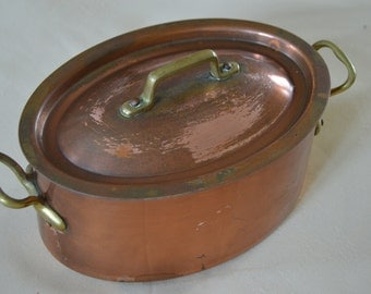 Old copper pot etsy - Ustensiles de cuisine en cuivre ...