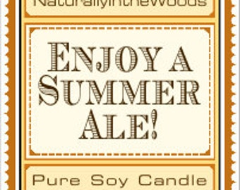 Beer Scented Pure Soy Candles
