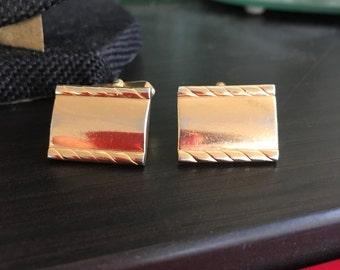 Vintage SWANK gold cufflinks, gold cufflinks, swank cufflinks, mens cufflinks, cufflinks, vintage gold cufflinks C22