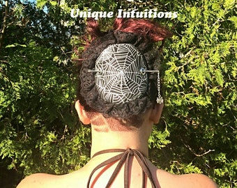 Spider Hair Slide Gothic Spider Web Hair Barrette Web Stick Barrette Bun French Twist Holder Hair Accessories Long Hair Updo Jewelry Clip