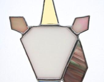 Geometric Unicorn Stained Glass Lightcatcher / Suncatcher