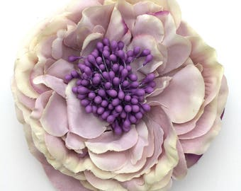 Handmade Lilac & Purple Flower Clip