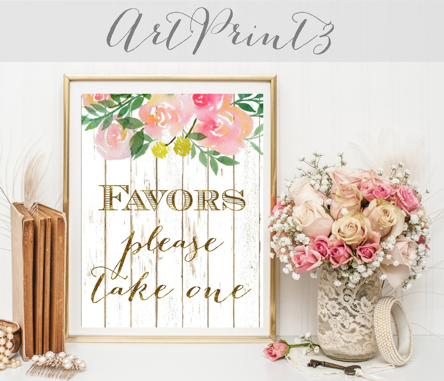 Favors Please Take One Wedding Sign Printable, Rustic Wedding Favors ...