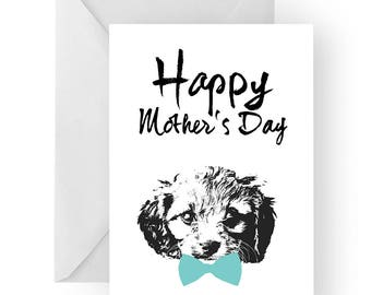 Cavoodle Mother's Day card- dog Mother's Day card, dog card, Mother's Day card, cute cavoodle dog card, cavoodle card