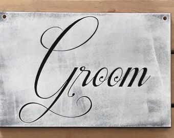 Bride and Groom wedding sign set